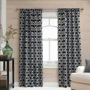 Threshold Farrah Fretwork Curtain Panels 84""